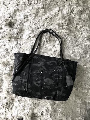 [ディケイド] トートバッグ ブラック迷彩デニムx牛革 DCD-00909